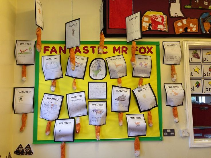 Fantastic Mr Fox Display, classroom display, class display, book, story, fantastic mr fox, wanted poster, Early Years (EYFS), KS1 & KS2 Primary Resources