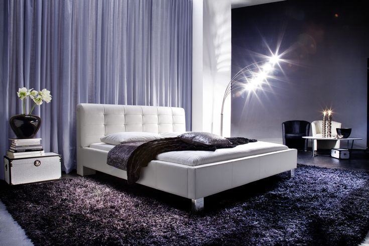... luxe toe aan de slaapkamer met het witte tweepersoonsbed Detroit