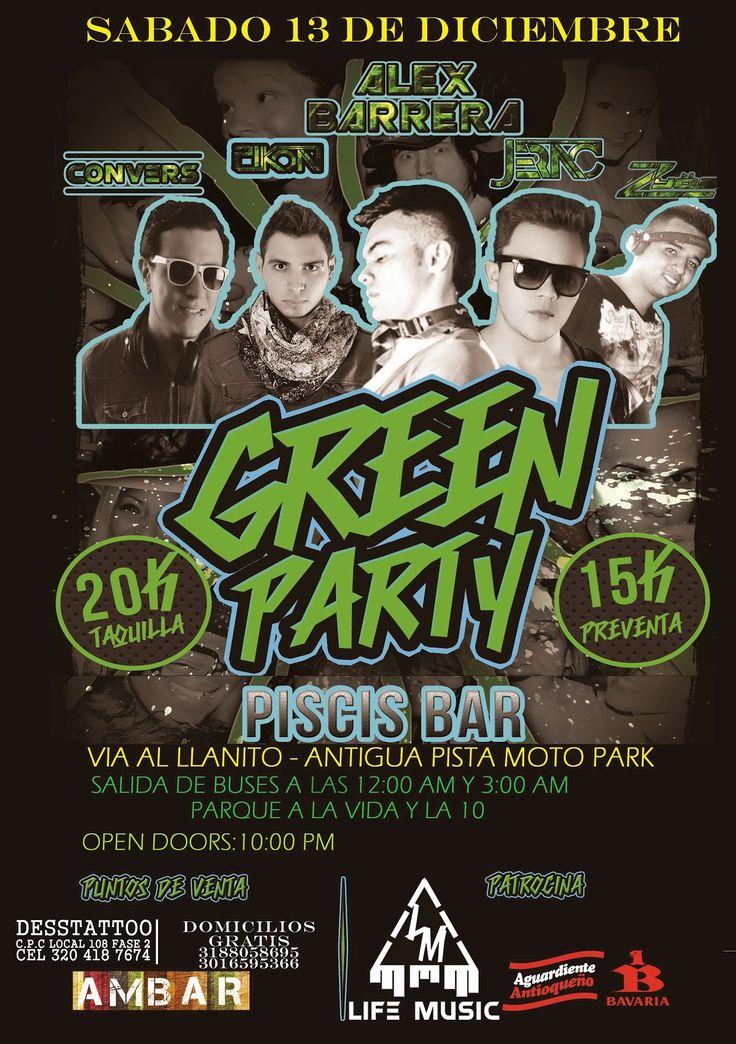 O. N. J.  Conexiones : GREEN-PARTY: SÁBADO 13 DE DICIEMBRE: VÍA AL LLANIT...