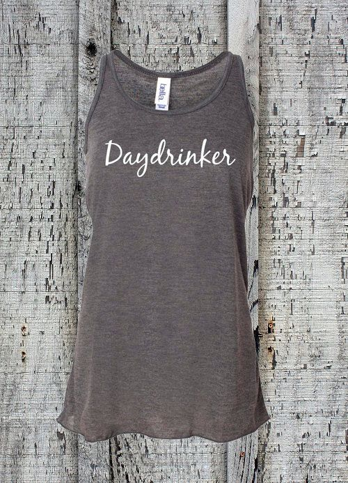 Daydrinker Funny Tank Top//Flowy Drinking Tank//Womens Daydrinker Racerback Tank Top//Workout Tank Top//Summer Tank Top//Vacation Tank Top by sheribottomline on Etsy