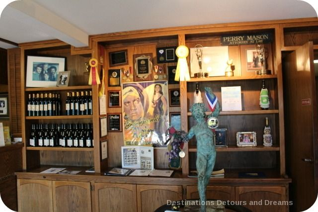Raymond Burr Vineyards tasting room memorablia