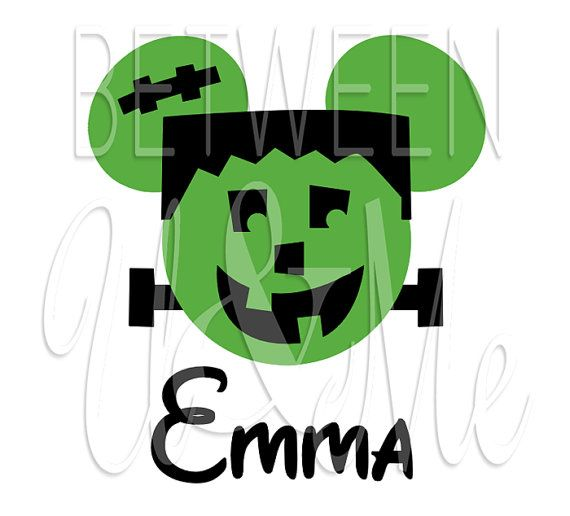 Personalized Mickey Mouse Frankenstein Halloween by CleanCutStudio, $6.99