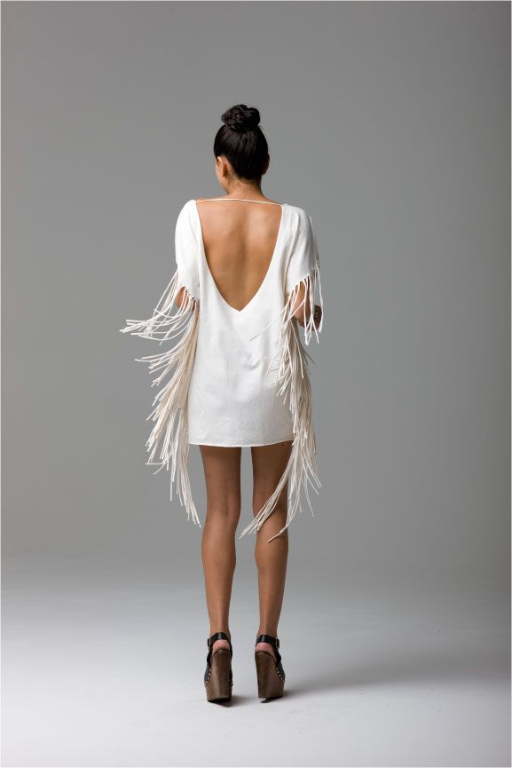 Fringe for days! #caciqueboutique #fringebinge #whitedress