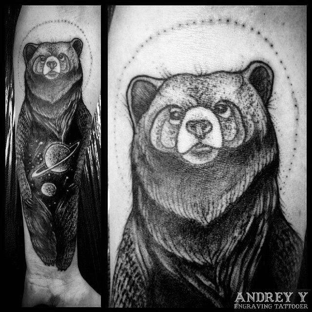 #andrey_y #art #dark #dot #dotwork #blackwork #spb #tattoo #tattooes #tattooing #vladbladirons #linework #workplacetattoo #wptattoo #black #blackworkers_tattoo #тату #медведь #черный #андрей  #666 #tattooist