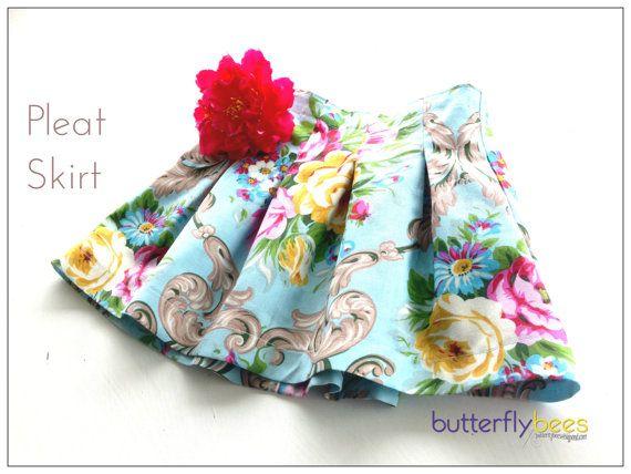 Custom order  Pleat Skirt by Butterflybees on Etsy