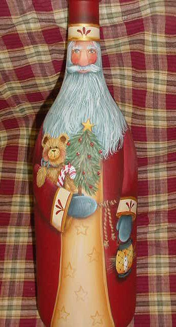decorative painting on glass bottles
