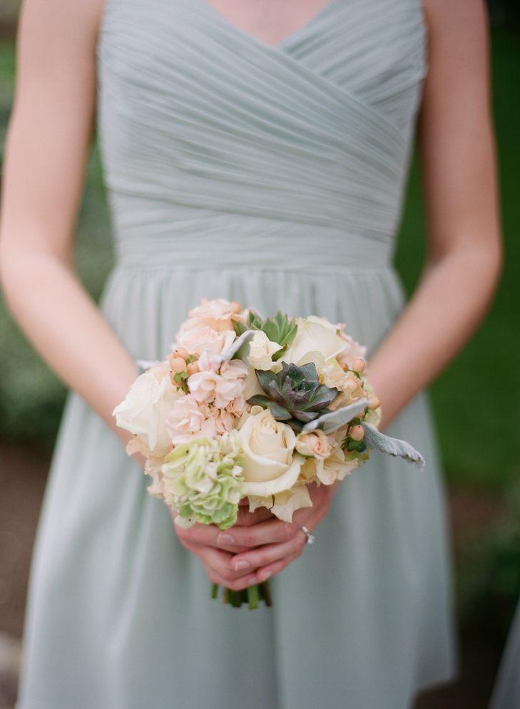 Rose, Succulent and Delphinium Bridesmaid Bouquets | Somerset Hills Florist | Jessica Frey Photography https://www.theknot.com/marketplace/jessica-frey-photography-austin-tx-557211
