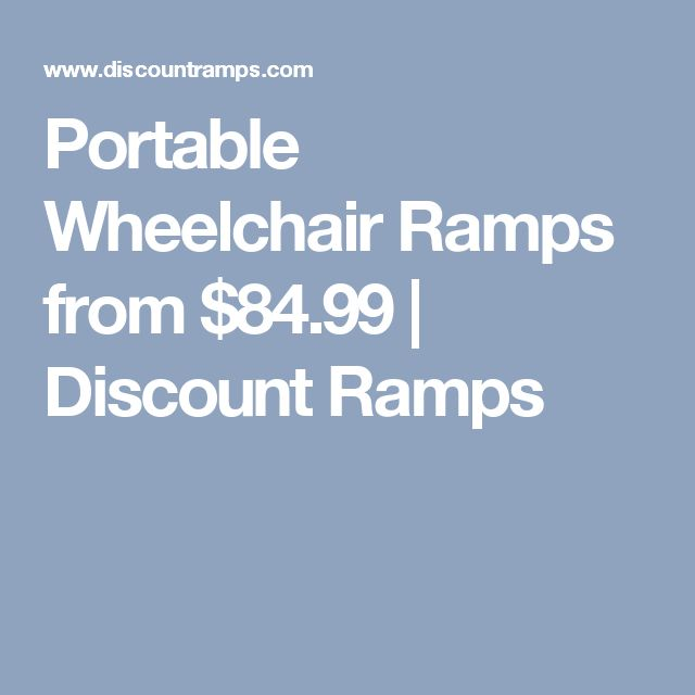 Portable Wheelchair Ramps from $84.99 | Discount Ramps