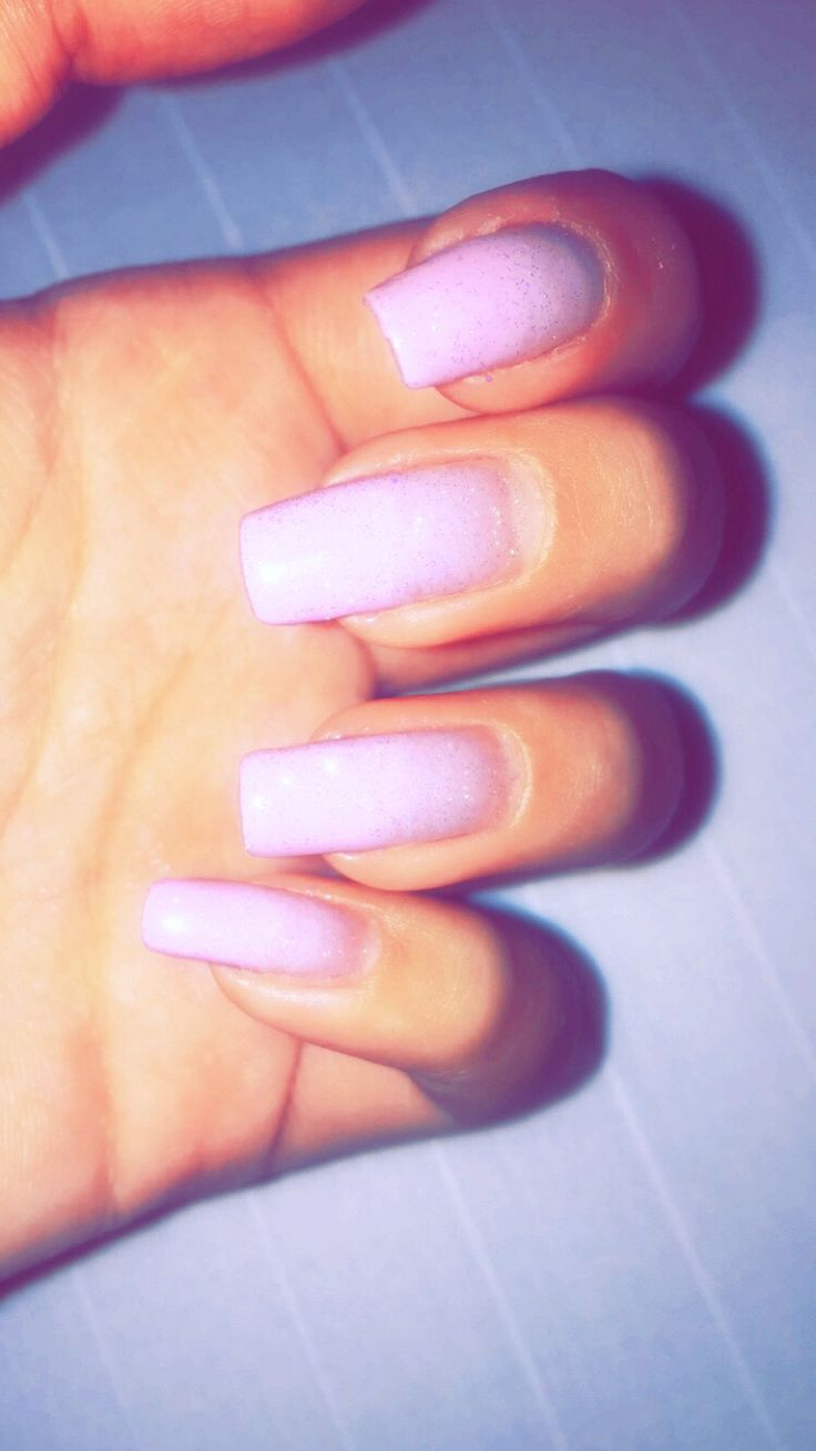Pale pink square nail ombre.