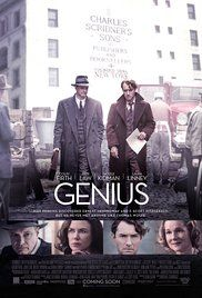 Genius (2016) PG-13 biography drama 6.5  A chronicle of Max Perkins's time as the book editor at Scribner, where he oversaw works by Thomas Wolfe, Ernest Hemingway, F. Scott Fitzgerald and others.