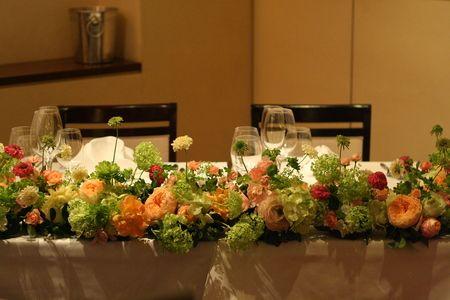 新郎新婦様からのメール 表参道リストランテ コルテージア様へ : 一会 ウエディングの花