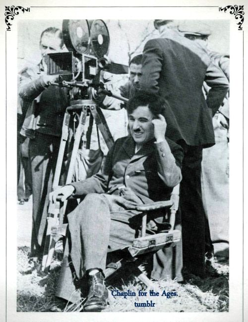 """chaplinfortheages: """"Charlie Chaplin in the director's seat - """"Modern Times"""" (1936) """""""