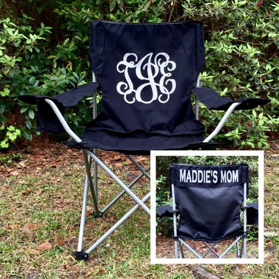 Custom Folding Chair Monogrammed Chair Personalized Camp Chair Groomsman Gifts Custom Chairs Coaches Chair Game Day Chairs In 2020 Vinyl Gifts Monogram Chair Vinyl Monogram