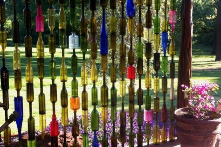 Recycled Bottle Fence