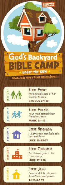God's Backyard Bible Camp Theme Chart