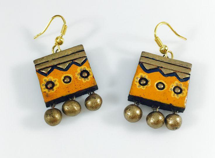 casual terracotta earrings