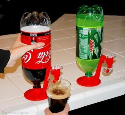 Clever soda dispenser