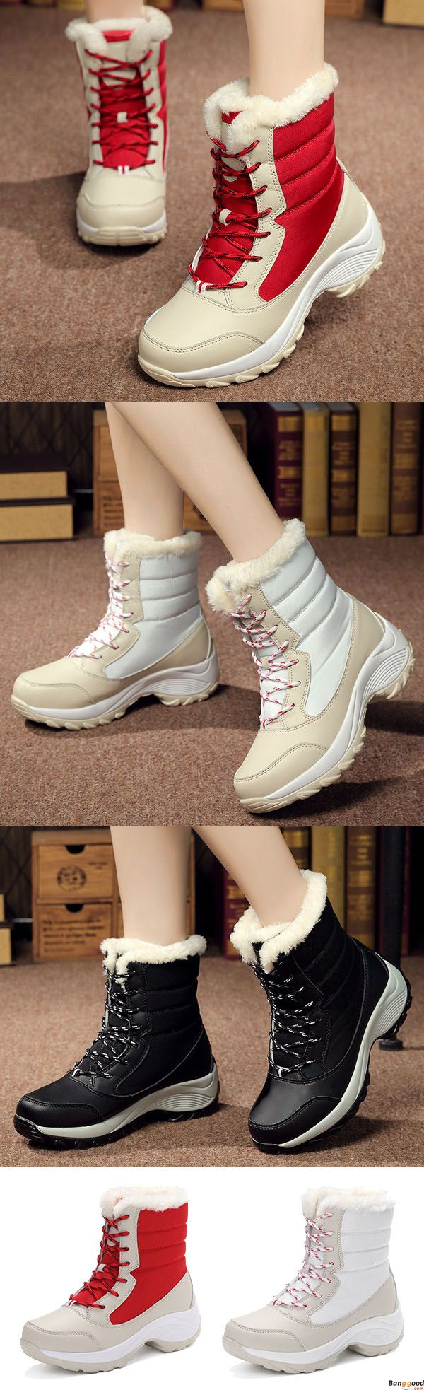 US$36.99+ Free Shipping. Warm Artificial Wool Lining Outdoor Hiking Ankle Cotton Snow Boots. Comfy and casual. Winter fashion style for women. Shop at banggood with super affordable price.