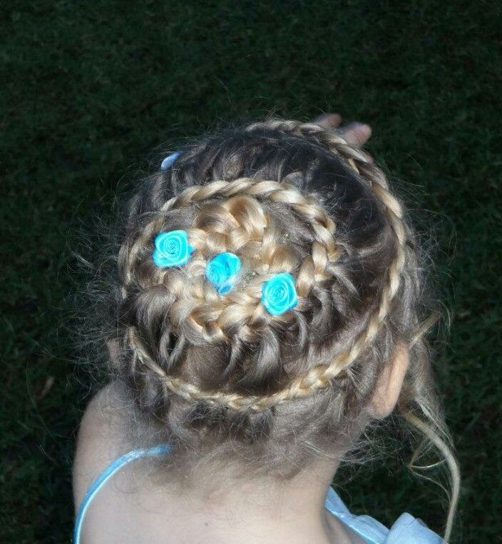 Little girls braid hairstyle