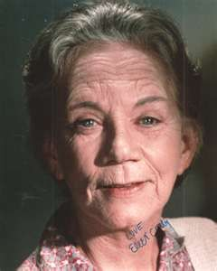 """Ellen Corby (6/3/11 - 4/14/99)   American actress. She is most widely remembered for the role of """"Grandma Esther Walton"""" on the CBS television series The Waltons, for which she won three Emmy Awards."""