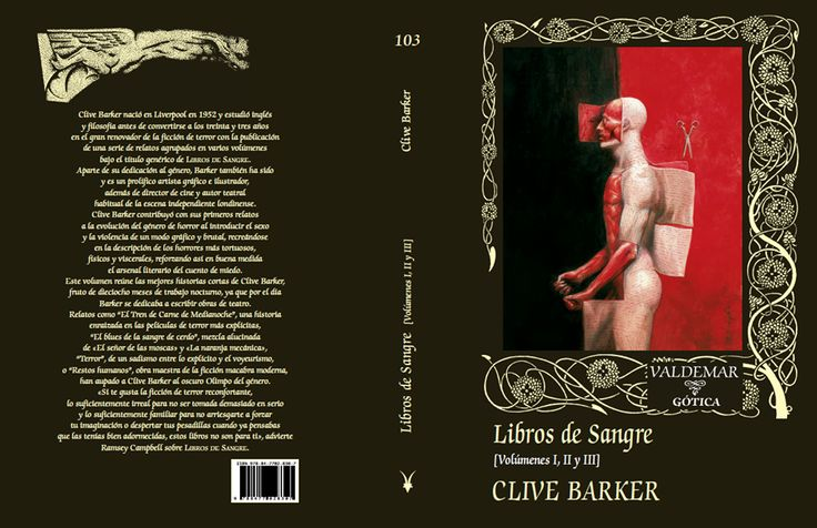 Clive Barker. Livre de Sang. Book of Blood. Libros de Sangre.