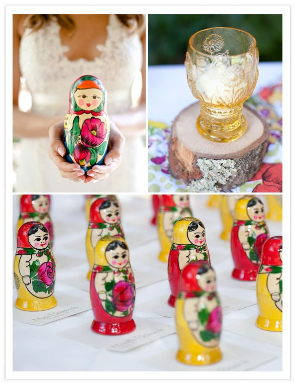 Matryoshka wedding favors! Probably cutest if someone is Russian.. hmmm