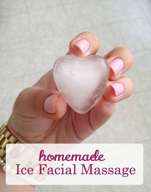 Homemade Facial Ice Massage for Skin Rejuvenation