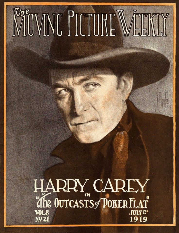 Harry Carey Moving Picture Weekly Cover 11x14 Print July 1919 | eBay