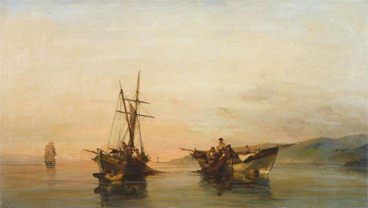 On calm waters  \\ Konstantinos Volanakis  (1837- 1907)