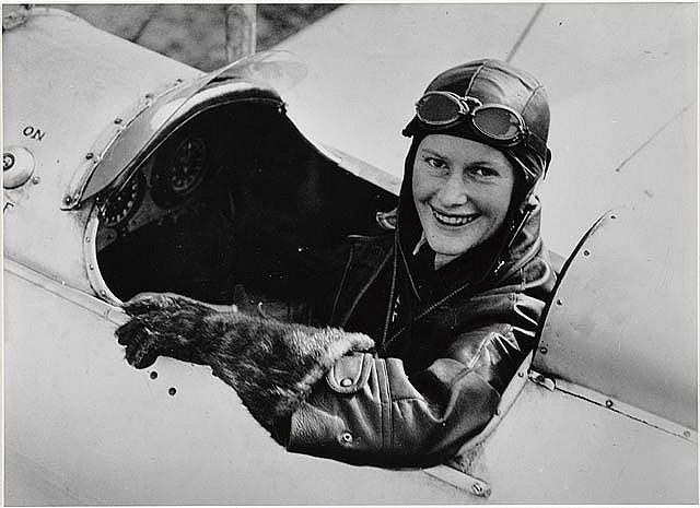 Australian pioneer aviatrix Nancy Bird Walton in Gipsy Moth at Kingsford Smith Flying School, 1933  Find more detailed information about this photograph: http://acms.sl.nsw.gov.au/album/albumView.aspx?acmsID=153288=823508  From the collection of the State Library of New South Wales http://www.sl.nsw.gov.au
