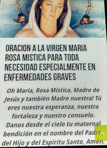 Oracion a La Sma Virgen Rosa Mistica
