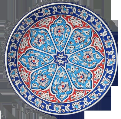 Hand painted by Morad Jasim Turkish plate