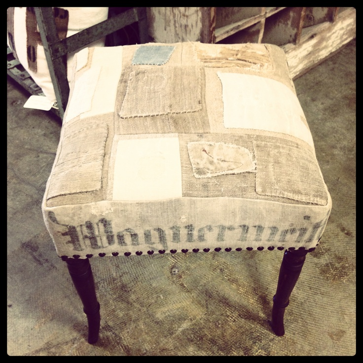 17 best images about antique textiles on pinterest sacks vanity stool and men ties - Antique vanity stools ...