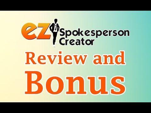 EZ Spokesperson Creator   DOWNLOAD BONUS
