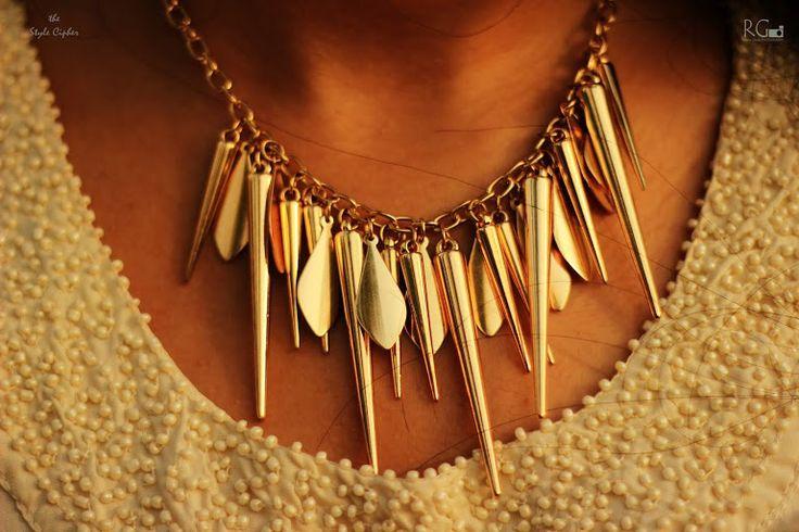 beautiful studded neck piece