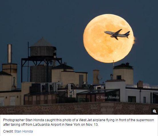 Sunday Night 'Supermoon' Wows Skywatchers