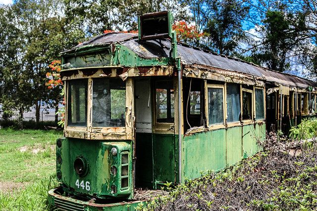 One of my fave explores, an old Brisbane tram, hiding away in Brisbane City.