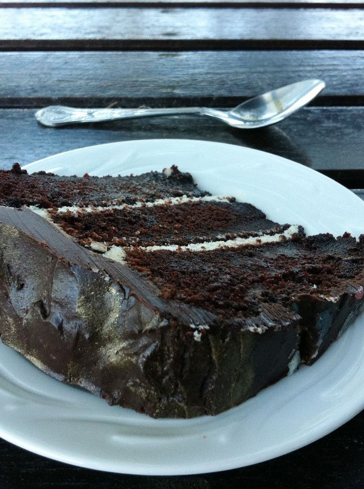 chocolate whiskey layer cake