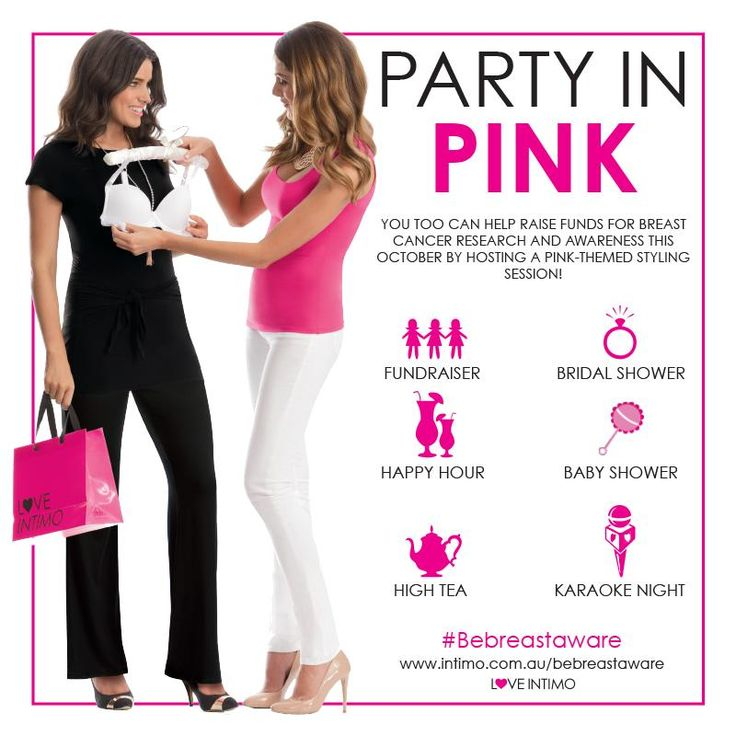 Why not make your October Styling Session a pink-themed party to help raise funds for breast cancer research and awareness? For every Candy garment sold throughout October, Intimo will donate $1 to breast cancer research in Australia and NZ! Visit www.intimo.com.au/bebreastaware