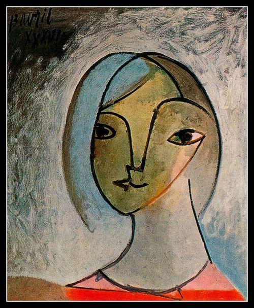 jes68:  Pablo Picasso - Buste de Femme 1936