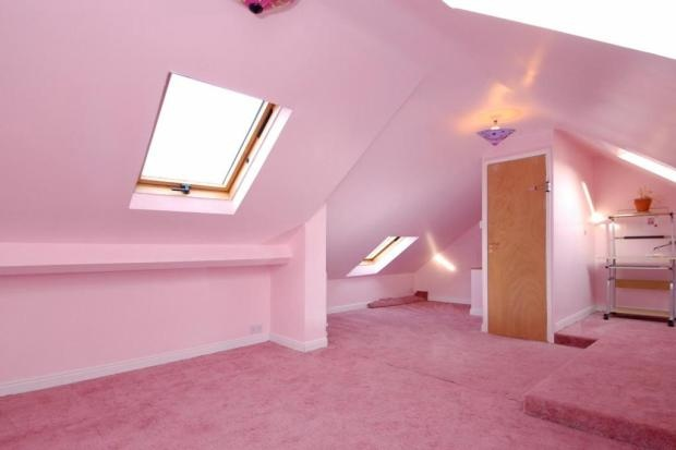 ideas for low ceiling attic - pink attic ALL THINGS PINK