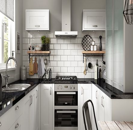 Wickes Kendal White Shaker Kitchen.  Kitchen-compare.com - Home - Independent Kitchen Price Comparisons