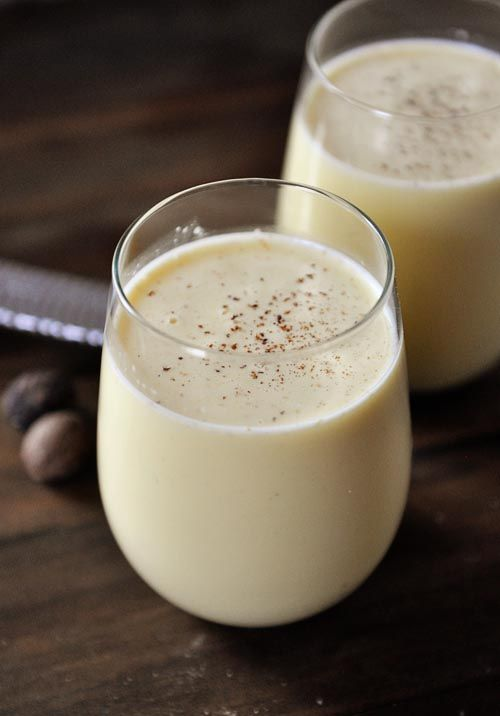 Homemade Egg Nog (not raw egg recipe). In this recipe, you cook the mixture to 160 degrees so there is no worry about eating raw eggs.