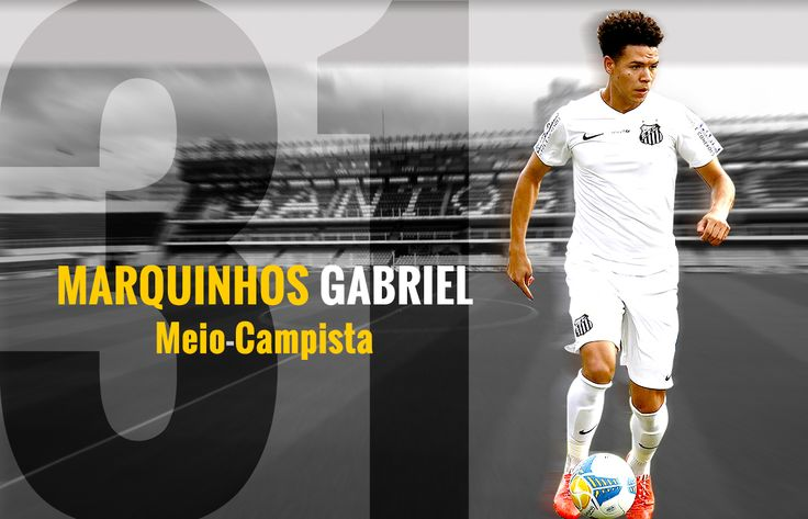MARQUINHOS GABRIEL...  Natural de: Selbach (RS) Nascimento: 21/07/1990 Peso: 69 Kg Altura: 1,74 Kg Posição: Meio-Campista Jogador: Profissional Clubes: Internacional (2009-2010/2011), Avaí (2011), Sport (2012), Bahia (2013), Palmeiras (2014) e Al-Nassr (2014) Título: Campeonato Gaúcho 2011 (Internacional) e Campeonato Paulista 2015 (Santos FC)