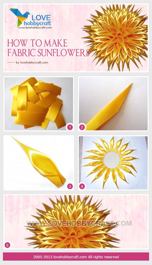 DIY satin ribbon flower