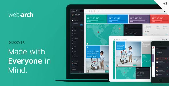 Webarch - Responsive Admin Dashboard Template by ace | ThemeForest