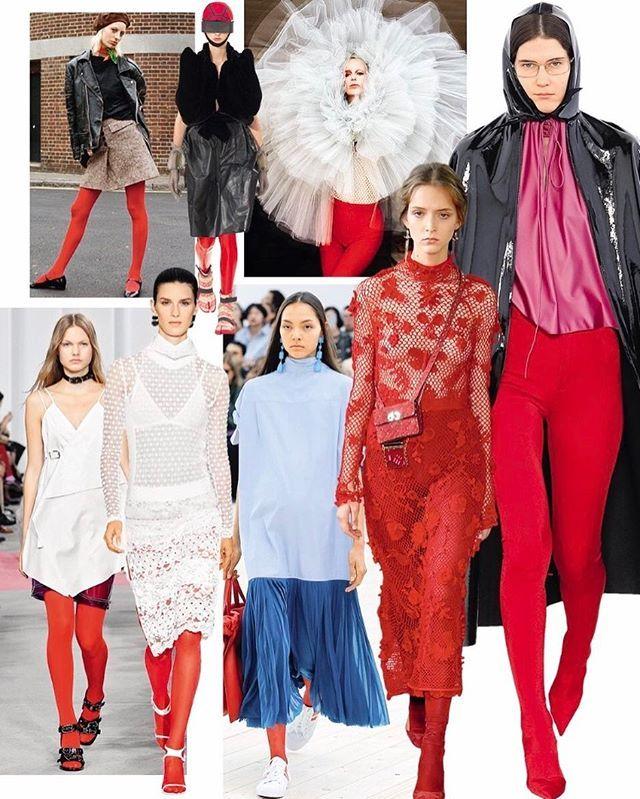 Red tights take the runway!/ Как красные колготки превратились в самый модный аксессуар сезона - читайте в апрельском Vogue.  via VOGUE RUSSIA MAGAZINE OFFICIAL INSTAGRAM - Fashion Campaigns  Haute Couture  Advertising  Editorial Photography  Magazine Cover Designs  Supermodels  Runway Models