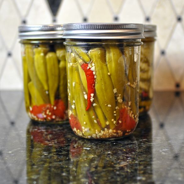 Spicy Pickled Okra — As wonderful from the jar as they are on sandwiches and relish trays.