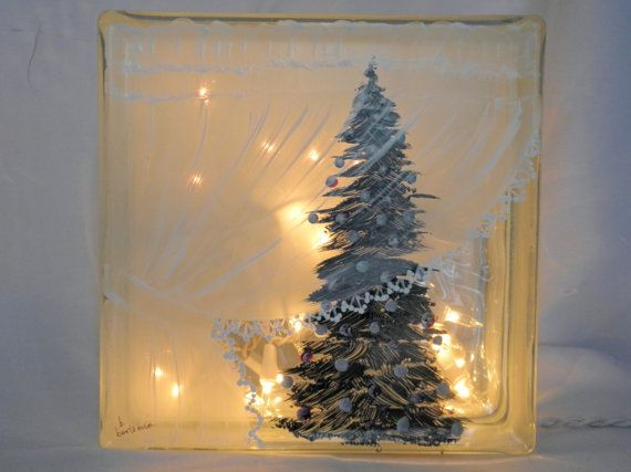 Glass Block Light-Curtain Tree-Night Light Lamp