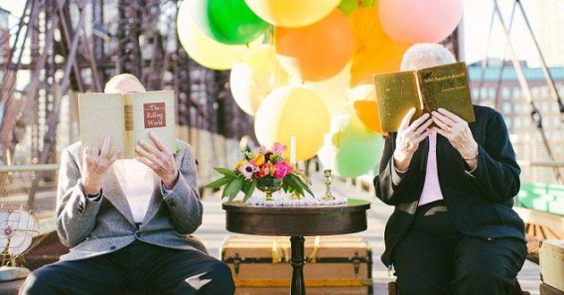 Este casal comemorou o aniversário de 61 anos de casamento ao estilo do filme UP - Altas Aventuras